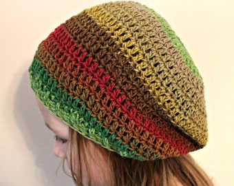 wool slouchy kids hat -  READY TO SHIP - slouch hipster beanie - green brown burgundy - fall colors