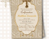 Confirmation Invitation, First Holy Communion Invitation, Baptism Invitation, Christening Invitation, Cross Invitation, Religious Invites