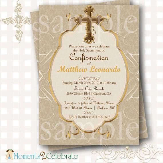 confirmation invitation first holy communion invitation