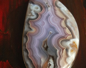 COLLECTOR Purple Coyamito Agate Handmade Sterling Silver Pendant Necklace Metalsmith James Blanchard