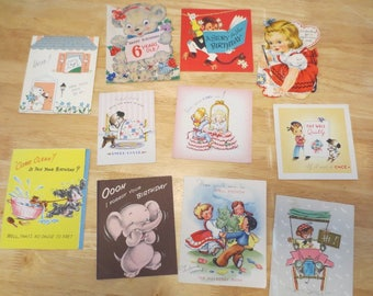 Lot of Vintage Childrens Greeting Cards