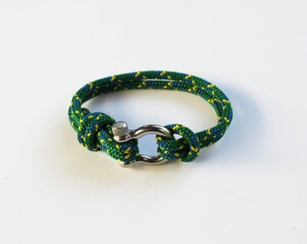 Bow Shackle Nautical Bracelet - Bright Green