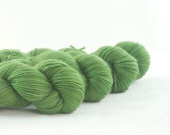 Hand Dyed Superwash Merino DK Yarn Green