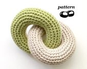 Linked Rings Toy Crochet Pattern / Baby Crochet Pattern / Teething Rings Teether Tactile / Torus Doughnut