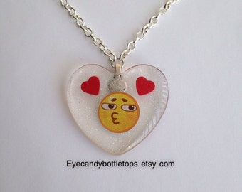Emoji Resin Charm Necklace