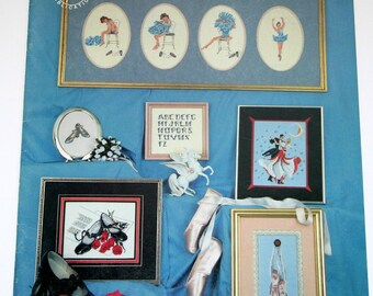 """Counted Cross Stitch booklet """"Let's Dance"""" ballet, tap, ball dancing"""