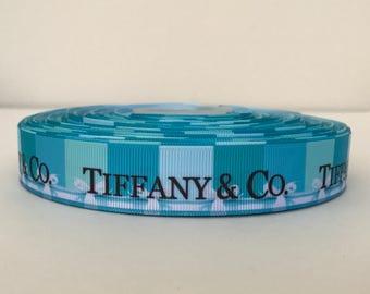 """7/8"""" Tiffany & Co Grosgrain Ribbon 4 yards"""