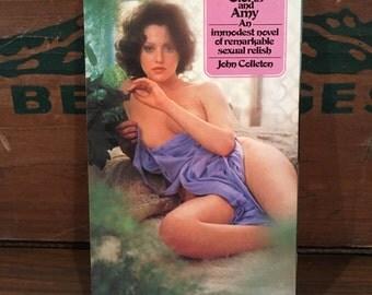 Between Cloris and Amy Vintage Paperback Book 1976 Signet by John Colleton sleaze erotica Mature Fiction
