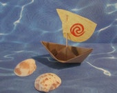 Moana Party Birthday Boat Water Sign Spiral Paper Boat Sailboat