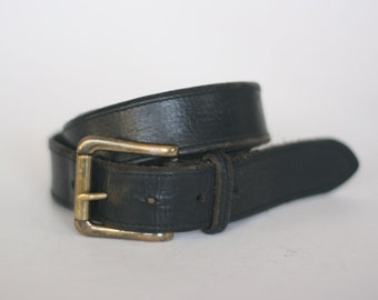 vintage polo ralph lauren black leather belt