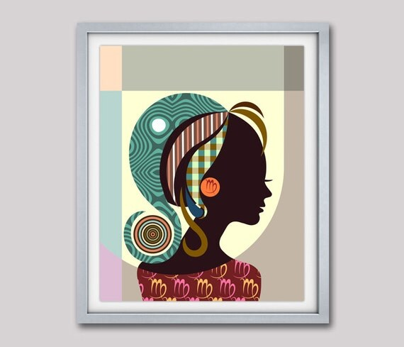 Virgo Art, Virgo Star Sign Poster, Virgo Gift,  Virgo Print Wall Art,  Virgo Art Print, Zodiac Gift, Horoscope Gift