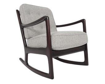 Danish Mid Century Modern Ole Wanscher for France + Daverkosen Rocking Chair