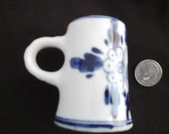 Sweetest miniature Delft Blue handpainted  windmill pitcher