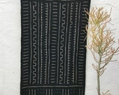 Authentic Mudcloth Textile, African Mud cloth fabric, Tribal pattern, mudcloth throw blanket, Boho Wall Decor #28