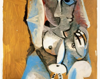 Pablo Picasso-Femme Accroupie-1985 Poster