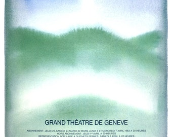Jean-Michel Folon-Le Vin Herbe-1982 Poster