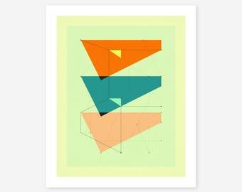 DELINEATION 106 (Giclée Fine art Print) Abstract, Geometric Artwork