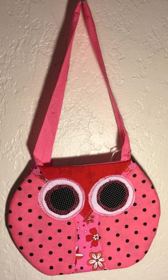 Pink Owl Purse (red beakh