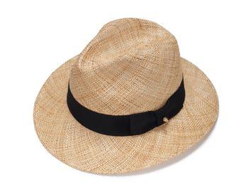 Classic Fedora straw hat with gold stud, Fedora straw hat for women, straw hat for men, Summer hats , Sun Hat , Fashion hat