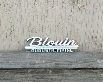 Blouin Dealer Emblem - Retro Augusta, Maine Chrome Dealership Badge