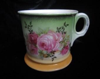 Vintage Shaving Mug, Vintage Floral Shaving Mug