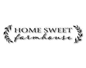 Home Sweet Farmhouse Laurel Branch Stencil