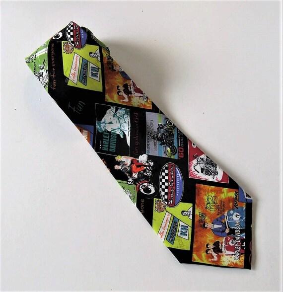 jahrgang harley davidson herren seide krawatte nicole miller. Black Bedroom Furniture Sets. Home Design Ideas