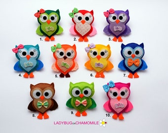 Felt OWL, Owl magnet or ornament, Owl toy, owl nursery decor, Owl magnet, Woodland animals, cute owl, birds magnets,kids owl, owl,children