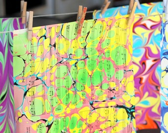 Marbling Magic - Jun 3 (One January Day @ Home Workshop)