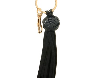 Suede Leather Tassel Key Chain