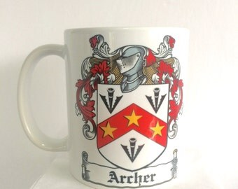 Family Crest Coffee Mug - Personalized Coffee Mug - Picture Perfect Photo Mug - Classic Monogrammed Coffee Mug