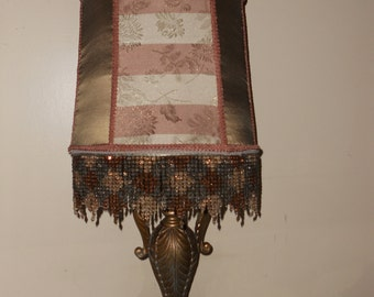 Lamp, Lamp Shade, One of Kind Handmade Accent Lamp Design - COPPER GLASS Of CHAMPAGNE