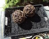 Sea grass and metal basket