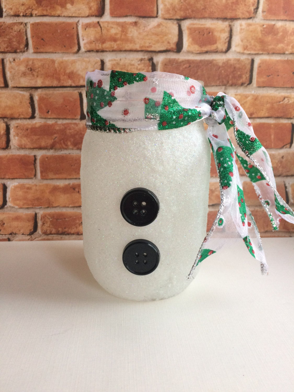 christmas home decor snowman glitter candle by