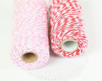 100 meters of big red and pink baking's twine