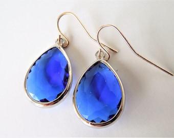 Royal Blue Earrings, Teardrop Earrings, Royal Blue, Blue, Teardrops, Simplicity, Simple Design, Minimalism, Minimalistic,
