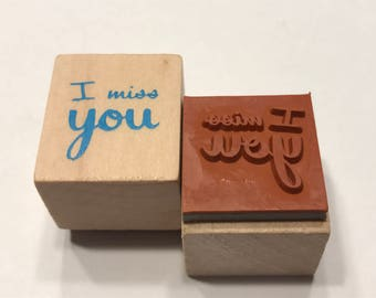 I miss you, rubber stamp, 16 mm (BB4/3)