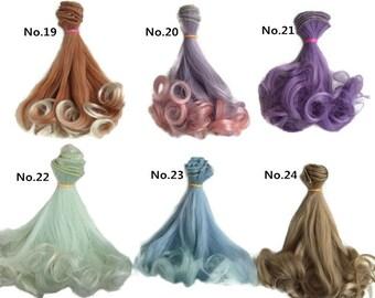 Doll Wig BJD Hair For 1/3 1/4 bjds/blythe/barbie 1pcs 15cmx1m BJD Wig Doll Hair 40 colors can be chosen