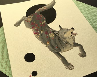 Wolf painting By Emily Shoichet
