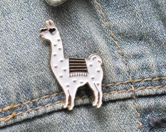 Enamel Pin - Llama Enamel Pin - Llama Pin - Llama Brooch Pin - Llama Gift - Llama Lapel Pin - Llama Lover