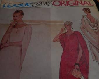 SALE Vintage 1970's Vogue 2523 Paris Original Pierre Balmain Sewing Pattern, Size 12 Bust 34