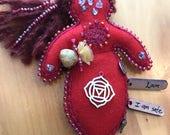 Root Chakra Doll, Healing Art Doll, Spirit Doll, Medicine Doll, Energy Doll