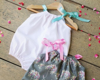 Bubble Romper, Sunsuit, coming home outfit, summer Outfit, Summer baby clothes, baby shower gift, Playsuit, cake smash outfit, beach romper