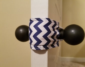 Navy Chevron (3 PACK) Door Silencer, Door Jammer, Nursery Door Silencer, Door cushion, Door latch cover, baby shower gift, LATCHY CATCHY