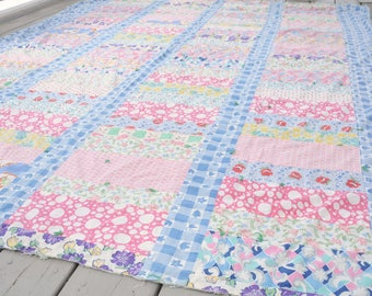 Feedsack Quilt Top TATTERED