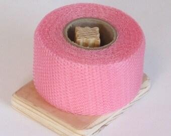 Nylon Net 2 Inch Strips - Paris Pink Net - 40 Yards Long Scrubbie Supplies