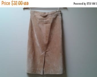 """SALE Brown suede skirt made in Canada Marquis of London xs s 25-26"""""""