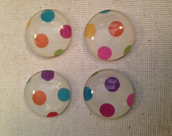 Polka Dot Magnets, Glass Magnets