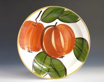 """Vera Neumann Pumpkin Dinner Plate - Vera Neumann Island Worcester Pumpkin Plate - Jamaican Jamaica Vera Large 10"""" Plate - Orange Pumpkin"""