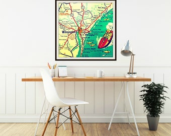 North Carolina Map, Custom NC Map Any City, Wrightsville, Carolina Beach, North Carolina Art, 12x12 20x20 photograph, NC beach house decor